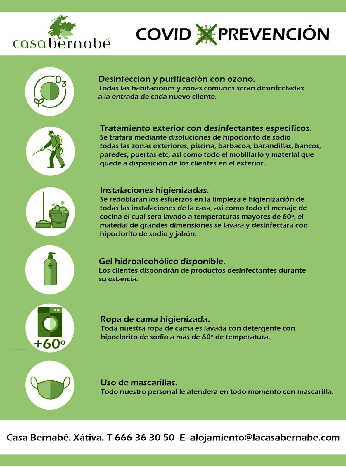 prevención covid CasaBernabe